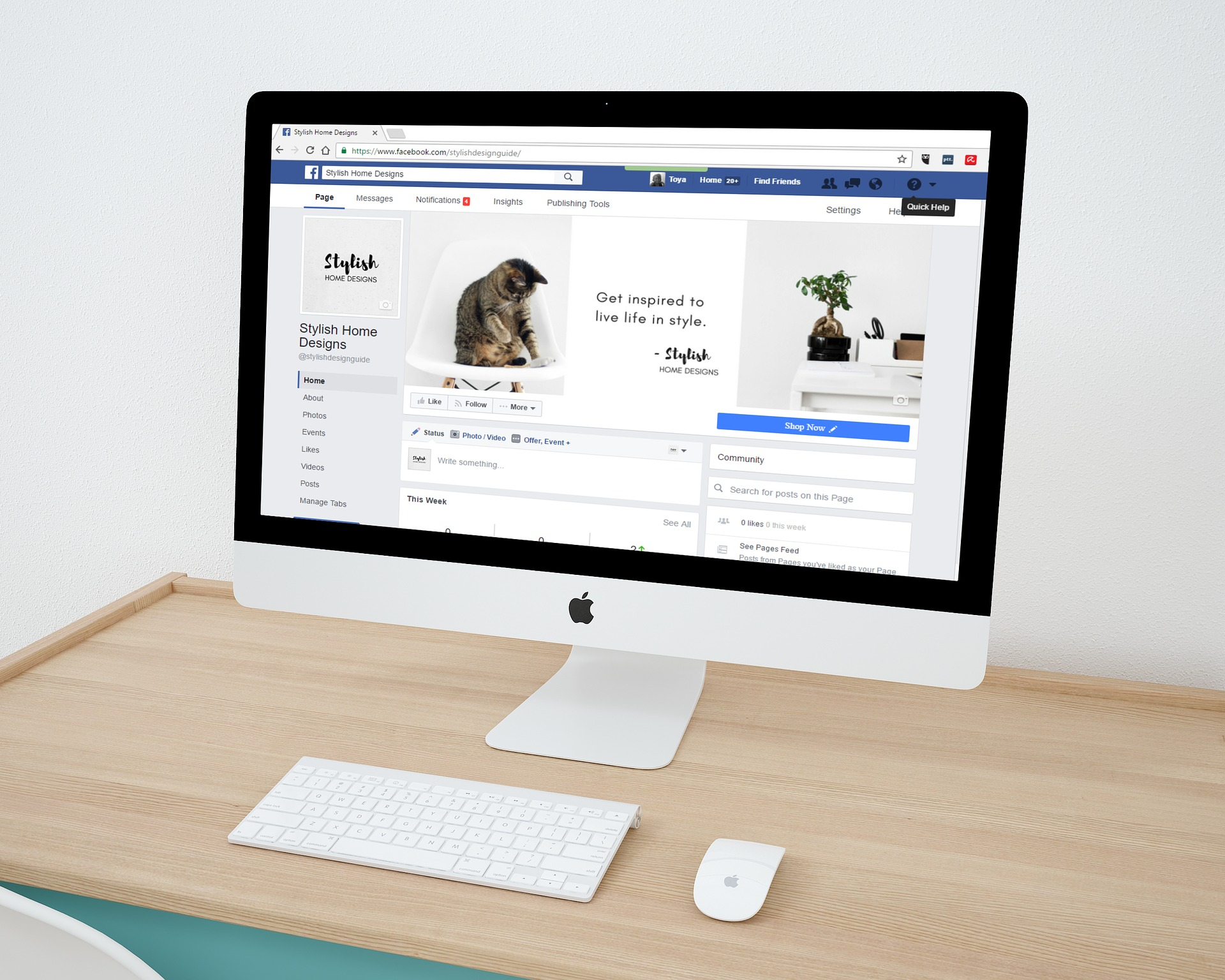 business page facebook